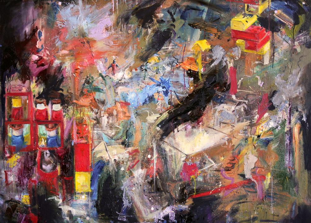 Oil on canvas, 112 x 144cm, 2013