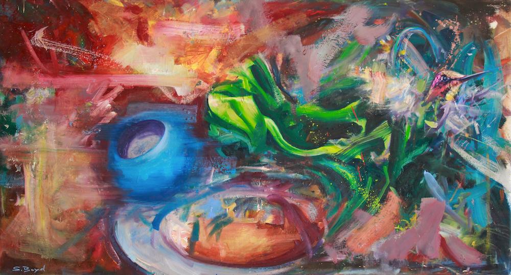 Oil on canvas,  70 x 130cm, 2020