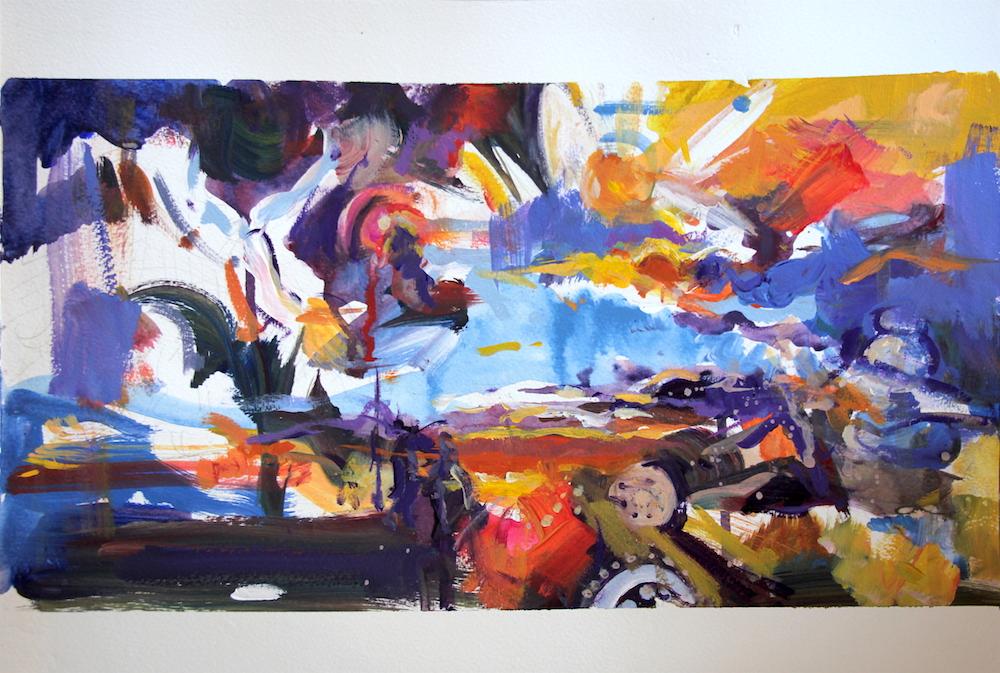 Acrylic on paper, 29 x 21cm, 2019